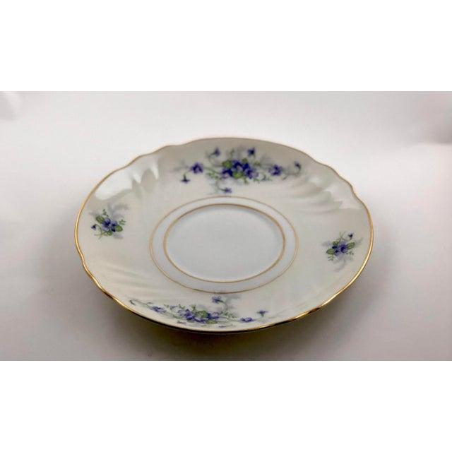 Ceramic 1950s Johann Haviland Violets Pattern Saucer For Sale - Image 7 of 9