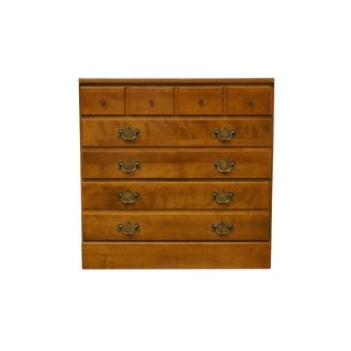 "20th Century Early American Ethan Allen Heirloom Nutmeg Maple CRP 30"" Three Drawer Chest For Sale"