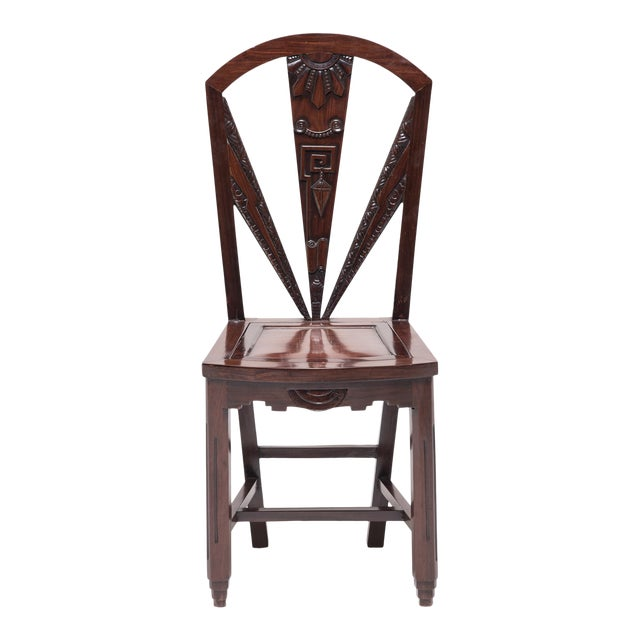 Chinese Art Nouveau Side Chair For Sale