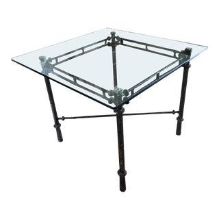 1960s Italian Cast Aluminum Dining Table For Sale