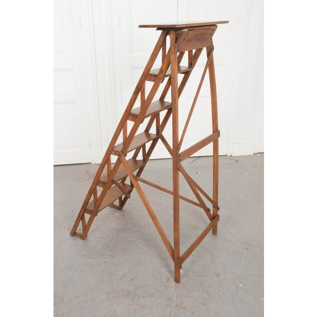 French Early 20th Century Oak Folding Ladder For Sale - Image 12 of 13