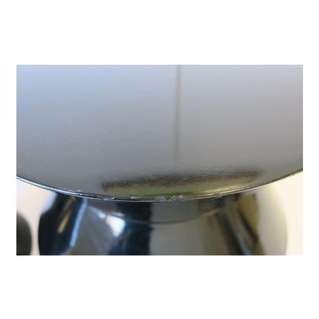 20th Century Art Deco Round Black Lacquer Side/End Tables - a Pair For Sale - Image 10 of 13
