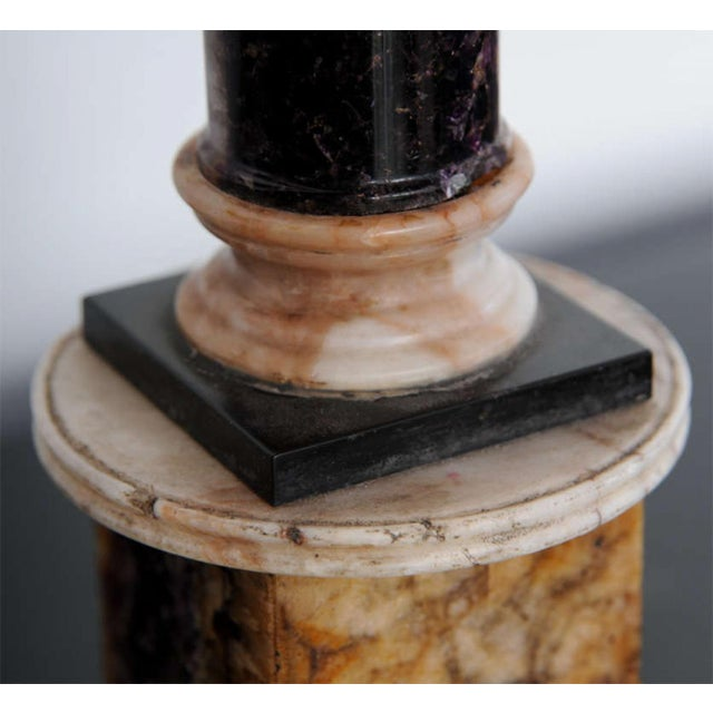 Marble Very Fine Pair of Bluejohn and Marmo Negro Columns, England For Sale - Image 7 of 8