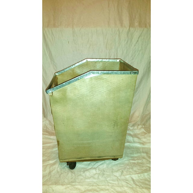 Dolphin Hotel 1960 Industrial Laundry Cart - Image 6 of 10