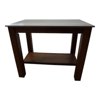 Aluminum Top Wood Work Table For Sale