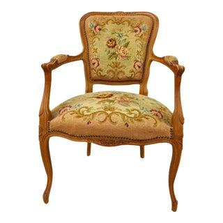 Louis XV Style Needlepoint Armchair