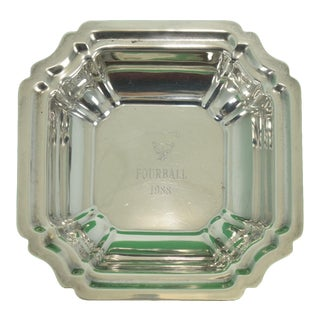 1988 Myopia Hunt Club FourBall Sterling Ashtray For Sale