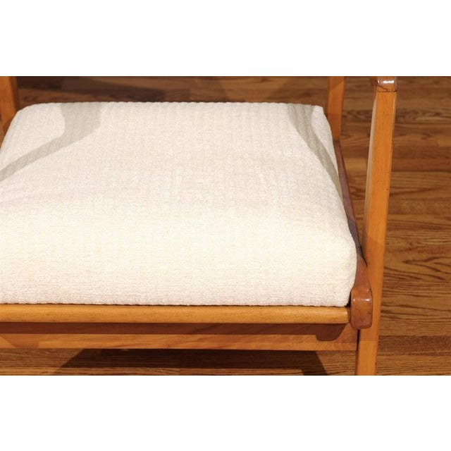 Restored Pair of Maple Loungers by Jens Risom For Sale - Image 10 of 10