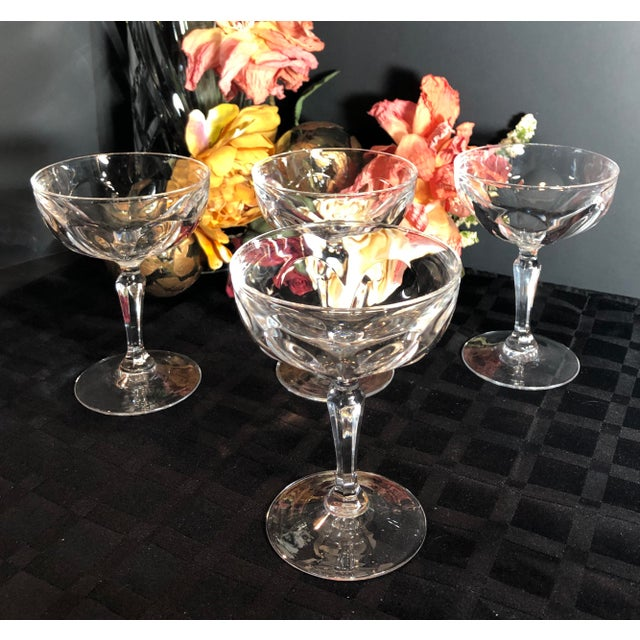 This is for a set of 4 tall champagne / sherbet cups in the Washington pattern by Cristal D'Arques-Durrand. These were...