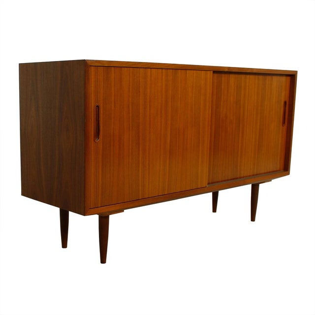 Danish Modern Walnut Sideboard/Media Cabinet - Image 2 of 10