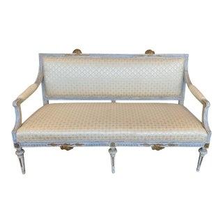 Late 18th Century Swedish Lindome Gustavian Settee For Sale