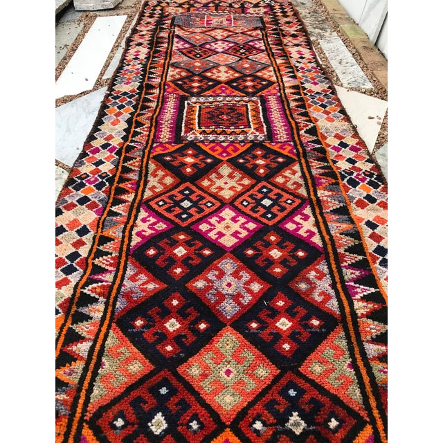 """1960s Hand Made Vintage Turkish Runner- 2'10""""x11'2"""" For Sale - Image 5 of 9"""