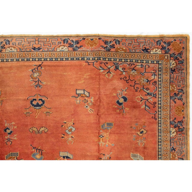 "Asian Apadana-Antique Indo Chinese Rug, 12'0"" X 13'6"" For Sale - Image 3 of 11"