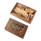 Image of Antique Victorian Toy Building Blocks Set For Sale