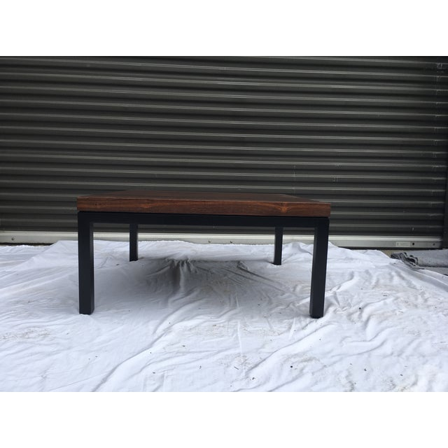 Rosewood Top Mid-Century Coffee Table For Sale - Image 9 of 9