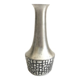 Vintage Mastad Norway Pewter Vase For Sale