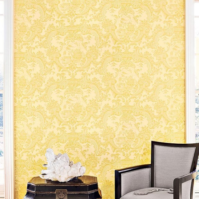 Chippendale China Classic Damask Style Wallpaper - 11 Yards For Sale - Image 4 of 4