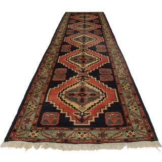 Vintage Turkish Wool Runner - 2′9″ × 9′10″ For Sale