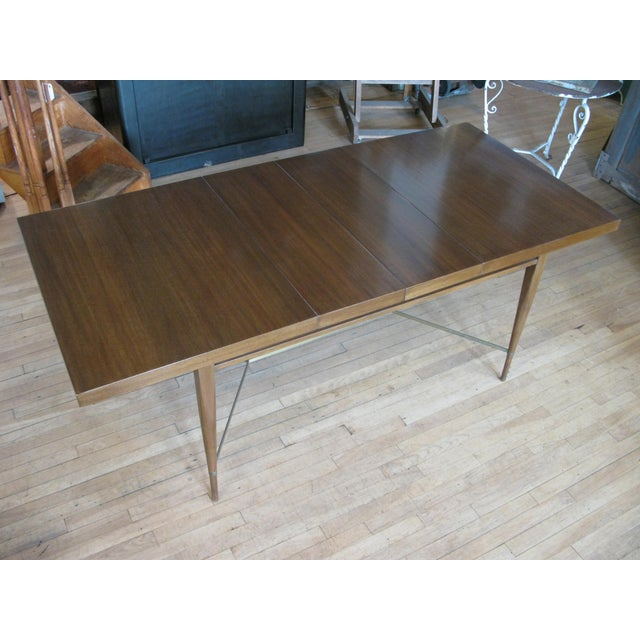 1950s 1950s Mahogany & Brass Extension Dining Table by Paul McCobb For Sale - Image 5 of 9