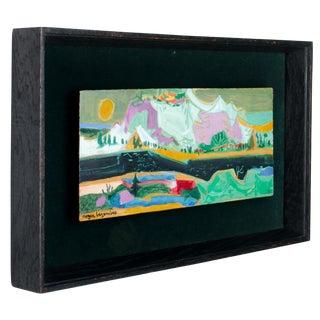 "Roger Bezombes ""Neige"" Original Oil on Panel For Sale"