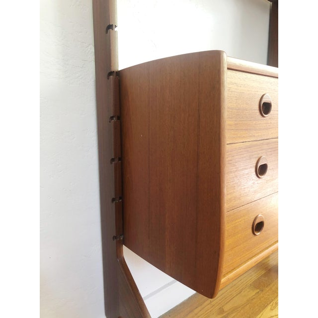 1960s Mid Century Teak Free Standing Wall Unit by Blindheim Møbelfabrikk For Sale - Image 5 of 13