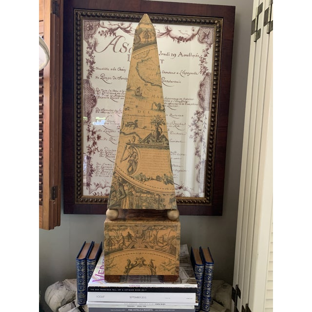 Early 20th Century Papier Mâché on Wood Pyramid. For Sale - Image 13 of 13