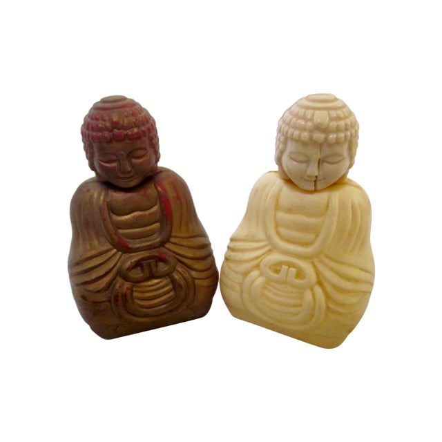 Refillable Buddha Fragrance Bottles - A Pair - Image 1 of 7