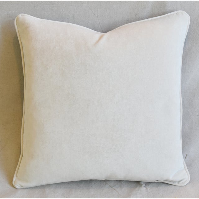 """Italian Chinoiserie Scalamandre Dragon Feather/Down Pillow 19"""" Square For Sale In Los Angeles - Image 6 of 8"""