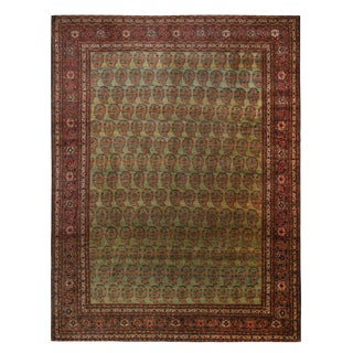 """19th Century Antique Tabriz Paisley Persian Rug-9'x12"""" For Sale"""