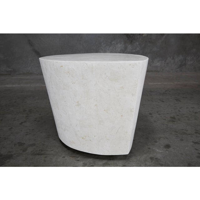 """1990s Contemporary White Freeform Tessellated Stone """"Hampton"""" Side Table For Sale - Image 12 of 13"""