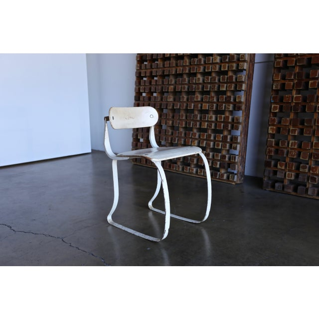 Herman Sperlich Health Chair for Ironrite. This chair is in original condition with a nice patina.