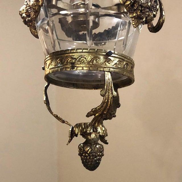 Antique Bronze & Crystal Lantern Chandelier For Sale - Image 10 of 12