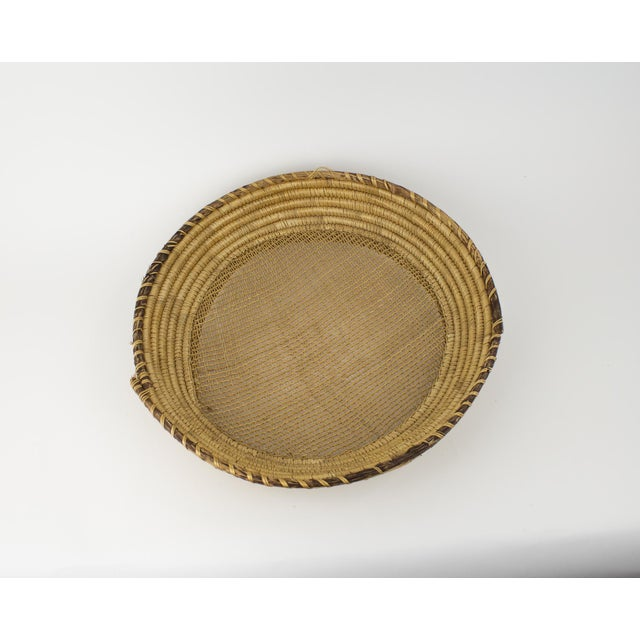 Large hand woven basket. Perfect size for displaying on coffee table or add to gallery wall to add texture. Goes great...