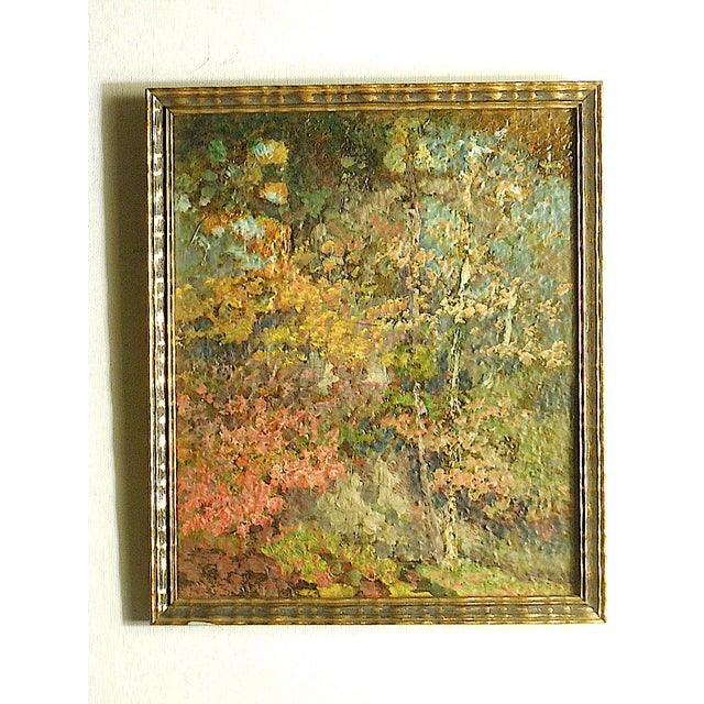 Vintage Impressionist Woodland Scene-Framed For Sale In Cincinnati - Image 6 of 6