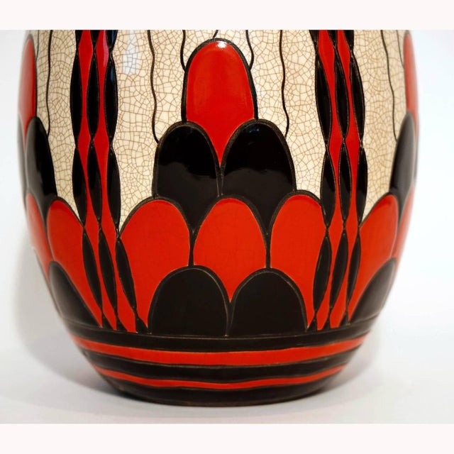 Art Deco Charles Catteau Art Deco Vase D.1831 For Sale - Image 3 of 5