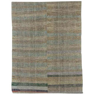 "Vintage Turkish Pala Kilim Rug - 70"" x 93"" For Sale"
