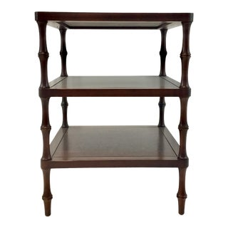 Hickory Chair Three Tier Wood Transitional Martinique Side Table For Sale