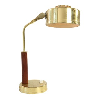 Mid-Century Modern Swedish Drum Table Lamp For Sale