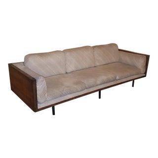 1960s Vintage Milo Baughman Thayer Coggin Rosewood Frame Sofa For Sale