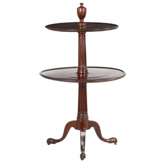 Georgian Period Mahogany Two-Tier Dumbwaiter Table For Sale
