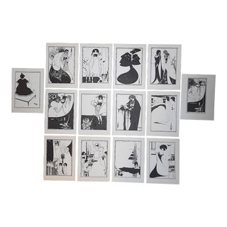 """Vintage Lithographs by Beardsley-Illustrations for Oscar Wilde's Play""""Salome-Set of 14 For Sale"""