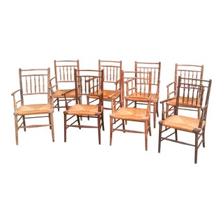 William Morris Rush Chairs - Set of 8 For Sale