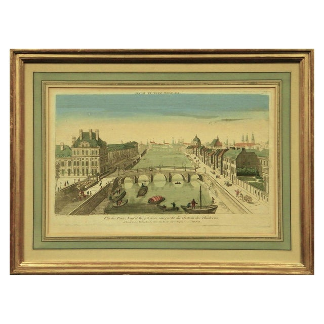 Le Pont Neuf Et Royal Engraving For Sale