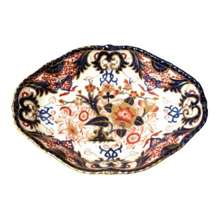 Circa 1830 English Derby Imari Vegetable Dish For Sale