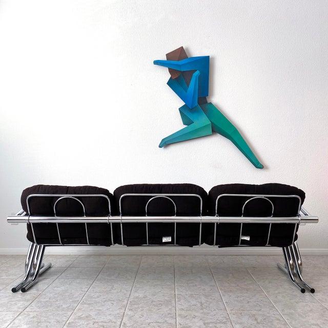 Mid Century Modern Jerry Johnson Chrome Sofa For Sale In Las Vegas - Image 6 of 12