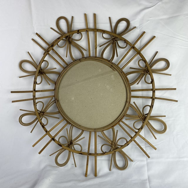 French French Mid-Century Starburst Mirror For Sale - Image 3 of 4