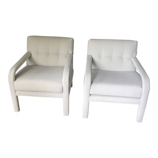 Milo Baughman Directional Parsons Chairs - A Pair For Sale