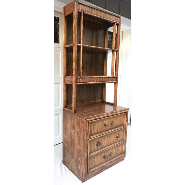 1970's Mid-Century Modern Faux Bamboo Etagere For Sale In Los Angeles - Image 6 of 8