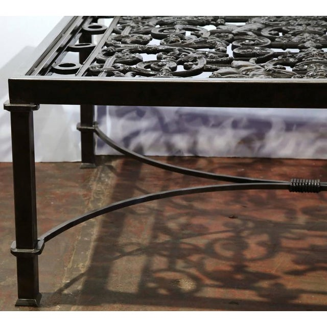 Black Polished Iron Coffee Table Base For Sale - Image 8 of 10