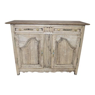 Early 19th Century Country French Bleached Buffet, Sideboard, Credenza For Sale